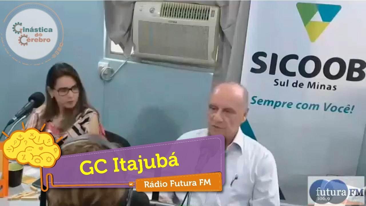 Membros da unidade Itajubá em gravação de programa da rádio Futura FM