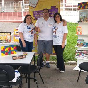 Equipe da unidade São João Del Rei em evento pelo dia internacional da conscientização do autismo